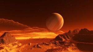 Exomoon of binary red dwarfs