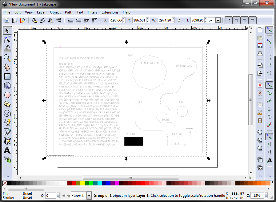 Pdf to dwg using free open source inkscape simple solutions Opensource cad dwg