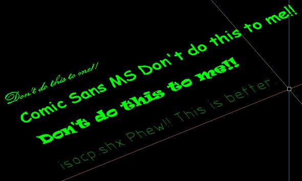 demanding fonts